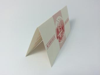 1 kleurdruk op structuurpapier