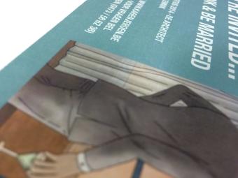Uitnodigingskaart trouw structuurpapier