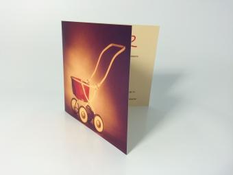 Geboortekaartje | 300gr karton | 2-luik