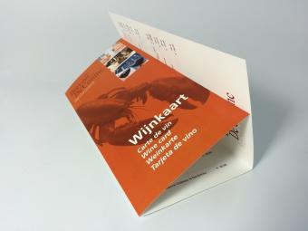 Wijnkaart | menukaart kleine oplage | 3-luik