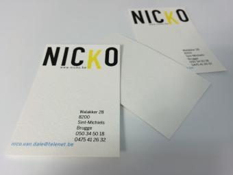 naamkaart structuurpapier | recto