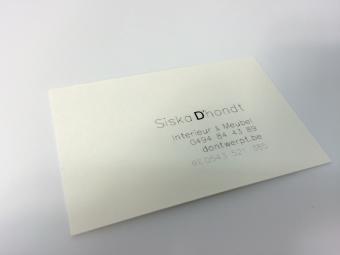 Naamkaartjes Zwart/wit