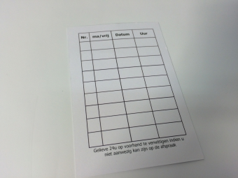 Afspraakkaart + naamkaart